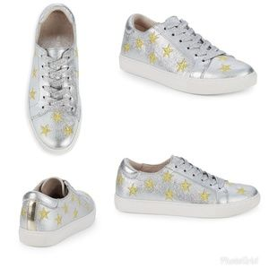 Kenneth Cole 'Kam' silver sneaker with gold stars
